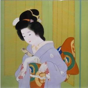 特価漆絵 上村松園の名作「舞仕度」部分|eurasia-art