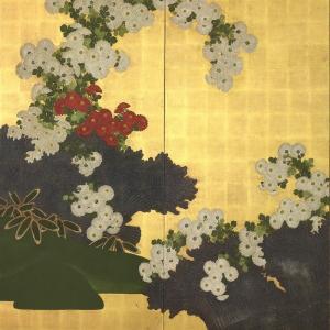 漆絵 酒井抱一の名作_桐と菊|eurasia-art