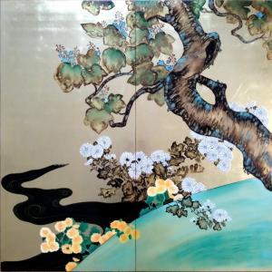 特価漆絵 酒井抱一の名作「桐菊流水図」|eurasia-art