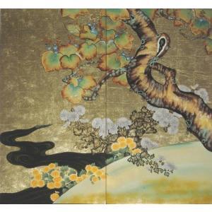 漆絵 酒井抱一の名作「桐菊流水図」|eurasia-art