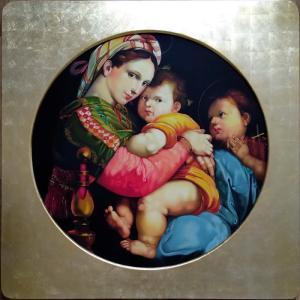 特価漆絵 ラファエロの名作_小椅子の聖母 額付|eurasia-art