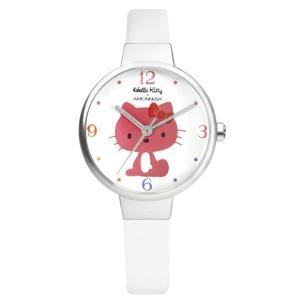 ワケあリアウトレット ハローキティ アモンリザ ALHK2491WHPKWH ハローキティ特製ポーチ付 腕時計 レディース HelloKitty×AMONNLISA|euro