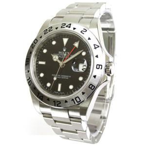 ROLEX 腕時計 エクスプローラーII ロレックス メンズ 腕時計 16570 ブラック 自動巻き Cal.3185 FINAL SALE|euro