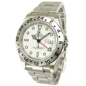 ROLEX 腕時計 エクスプローラーII ロレックス メンズ 腕時計 16570 ホワイト 自動巻き Cal.3185 FINAL SALE|euro