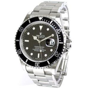 ROLEX 腕時計 サブマリーナ デイト ロレックス メンズ 腕時計 16610 ブラック 自動巻き Cal.3135 <国内発送>|euro