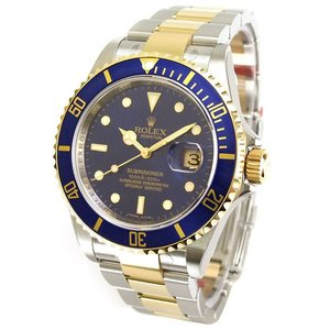 ROLEX 腕時計 サブマリーナ デイト ロレックス メンズ 腕時計 16613 ブルー 自動巻き Cal.3135 <国内発送>|euro