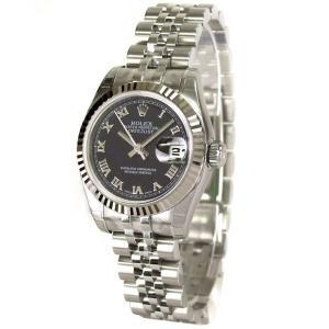 ROLEX 腕時計 デイトジャスト ロレックス レディース 腕時計 179174 bk ローマ 自動巻き Cal.2235 FINAL SALE|euro