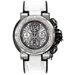 アクアノウティック キングクーダ ハーフスケルトン KRP02SKNAJ03 腕時計 メンズ クロノグラフ 白ベルト AQUANAUTIC King Cuda CHRONOGRAPH Half Skeleton|euro
