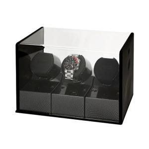 BOXY Designボクシーデザイン ウォッチワインダー アダプター付 P03CC-BK※時計は含まれておりません|euro