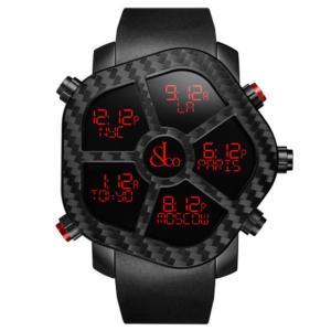 ジェイコブ ゴースト カーボン JC-GST-CBN 腕時計 メンズ ノーマルベゼル付属 デジタル 5time zone JACOB&CO|euro