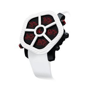 ジェイコブ ゴースト JC-GST-CBNWH カーボンカラーホワイト 腕時計 メンズ JACOB&CO GHOST デジタル 5time zone|euro