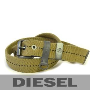 ディーゼルのベルト グリーン DIESEL 00S2ZW-00TVC-5DD コットンXカーフ