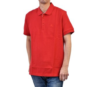 の半袖ポロシャツ レッド  8003122 コットン100% カジュアル S M L XL 綿