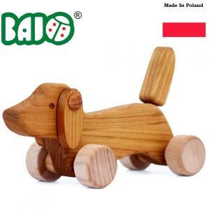 Bornelund ボーネルンド BAJO バヨ プルトーイ 木のダックスフント ~ 出産祝いや1歳、2歳の誕生日やクリスマスプレゼントに。|eurobus