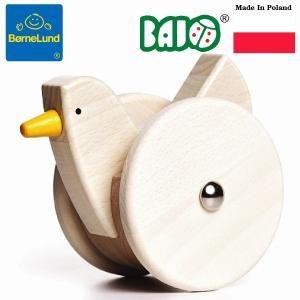 Bornelund ボーネルンド BAJO バヨ プッシュトーイ 小鳥のおきあがりこぼし ~ 出産祝いや1歳、2歳の誕生日やクリスマスプレゼントに。|eurobus