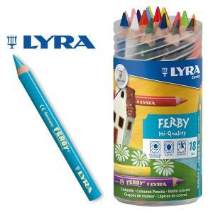 LYRA リラ社 FERBY ファルビー 色鉛筆 軸カラー 18色 PPボックスセット|eurobus