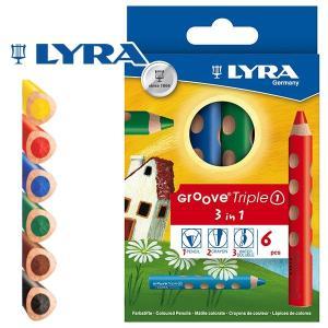 LYRA リラ社 Groove グルーヴトリプルワン 色鉛筆 6色セット