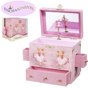Enchantmints エンチャントミンツ オルゴール付きジュエリーボックス バレリーナ ~ 女の子の誕生日プレゼントにお勧めオルゴール付きのジュエリーボックスです。 eurobus