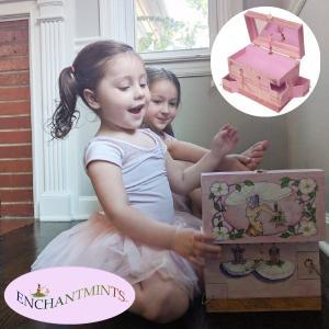 Enchantmints エンチャントミンツ オルゴール付きジュエリーボックス バレエスクール ~ 女の子の誕生日プレゼントにお勧めオルゴール付きのジュエリーボックスで eurobus