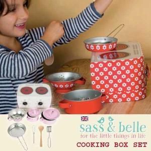sass and bell サス アンド ベル クッキングボックスセット ピンクポルカドット | 3歳、4歳の女の子のお誕生日プレゼント、クリスマスギフトに人気の、食材があ|eurobus
