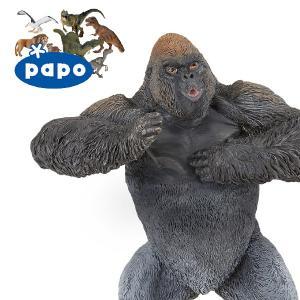 【メール便可】PAPO パポ社 マウンテンゴリラ ~ フランス、PAPO(パポ社)のWild Animalsシリーズ、野生の動物のフィギュア。リアルな表情が魅力。 eurobus