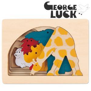 George Luck ジョージラック 木製5重パズル キリンと仲間たち|eurobus