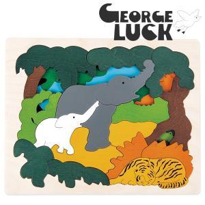 George Luck ジョージラック 木製2重パズル アジア|eurobus