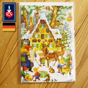 Korsch Verlag社 アドベントポストカード レープクーヘンハウス ドイツ製 ~ クリスマスまでをカウントダウンしてくれる人気のアドベントカレンダー。|eurobus