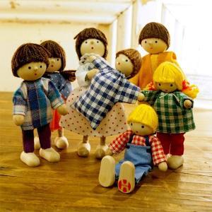 Herwig ヘアビック社 ドールハウス用 人形 7人家族セット