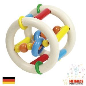 Heimess ハイメス リングラトル ローラー | 出産祝い人気のドイツ製、Heimess(ハイメス)のカラフルな木製ビーズのラトル、ガラガラ、赤ちゃんのおもちゃです。|eurobus
