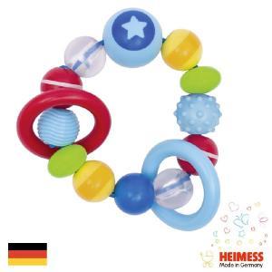 [メール便可] Heimess ハイメス リングラトル スター | 出産祝い人気のドイツ製、Heimess(ハイメス)の握っても振っても楽しい、カラフルな木製ビーズのラトル|eurobus