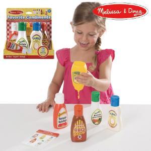 Melissa & Doug メリッサ&ダグ お気に入り調味料セット おままごと ~ 3歳、4歳のお誕生日やクリスマスプレゼント。|eurobus