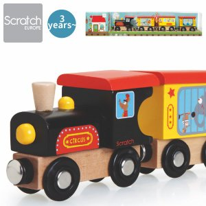 Scratch スクラッチ 木製汽車 トレイン サーカス ~ 2歳、3歳の男の子、女の子の誕生日、クリスマスプレゼントに人気。|eurobus