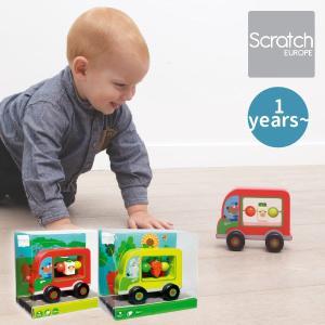 Scratch スクラッチ プッシュトイ マイファーストカー ベアー ラビット ~ 出産祝い、ハーフバースディ、1歳の男の子、女の子の誕生日。|eurobus