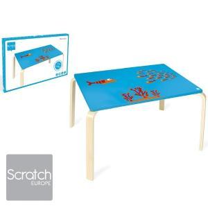 Scratch スクラッチ キッズテーブル フィッシュ ~ 子供部屋のインテリアに人気、ベルギーのおもちゃメーカースクラッチの子ども用の家具、木製テーブル、デスク|eurobus