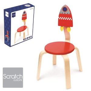 Scratch スクラッチ イス スペース ~ 子供部屋のインテリアに人気、ベルギーのおもちゃメーカーScratch(スクラッチ)の子ども用の家具、木製の椅子です。|eurobus