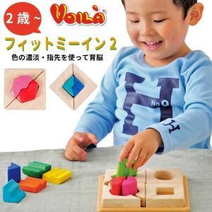 Voila ボイラ フィットミーイン2 2歳の男の子、女の子の誕生日プレゼントにおすすめ。タイの老舗木製玩具メーカーVoila(ボイラ)の木製知育パズルです。|eurobus