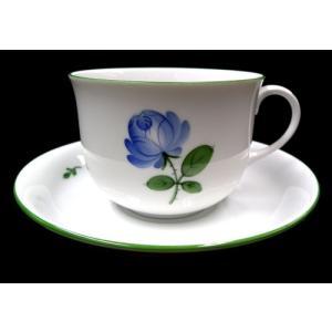 アウガルテン(オーストリア)【ウィンナーローズブルー/コーヒーC/S(001)】マリアテレジアの窯/薔薇|euroclassics