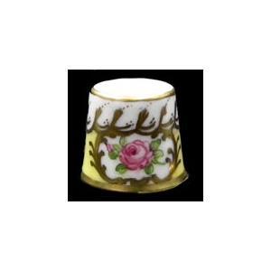 ドレスデン/磁器製 ピンクローズ指ぬき【ハンドペイント/1276】新品現品特価 euroclassics
