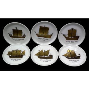フェルステンベルク/コースター6枚セット【帆船φ約10cm】在庫限り euroclassics