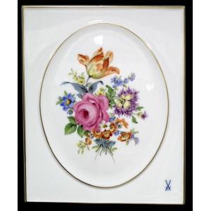 マイセン【マイセン 五つ花 フラワーブーケ 陶板画約25x20cm】新品|euroclassics