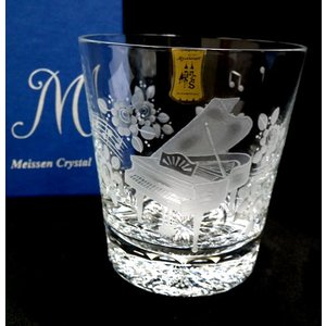 マイセンクリスタル(ドイツ)【ピアノ 手彫りロックグラス/箱入】ギフト包装無料|euroclassics