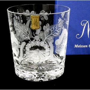 マイセンクリスタル(ドイツ)【ブルーオーキッド 手彫りロックグラス/箱入】ギフト包装無料|euroclassics
