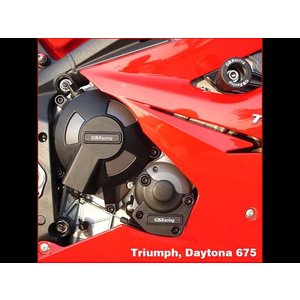 GBRacing: TRIUMPH Daytona 675 (2006-2010)/StreetTriple (2007-2010) エンジンカバーセット | EC-D675-SET-GBR|eurodirect