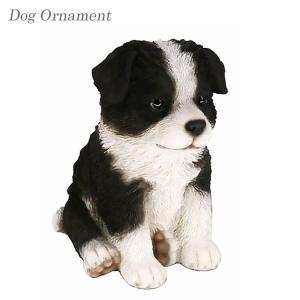 可愛い表情でお出迎え ドッグオーナメント【ボーダー・コリー 子犬】 ■サイズ(cm) (幅)11×(...