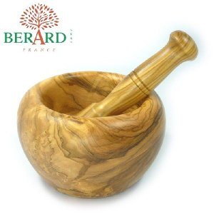 ベラール BERARD オリーブの木 乳鉢&乳棒セット(すり鉢)#90071 eurokitchen