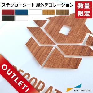 ステッカー用カッティングシート 屋外デコレーション (レッド・ネイビー・ホワイト) (38cm×1m切売)JPO-ZC|europort