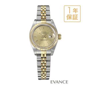 ロレックス デイトジャスト 79173 シャンパン レディース ROLEX (中古)|evance-web