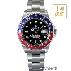ロレックス GMTマスターII 16710 赤青ベゼル P番 メンズ ROLEX (中古) evance-web