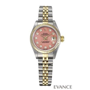 ロレックス デイトジャスト 79173G ピンクオパール レディース ROLEX (中古)|evance-web
